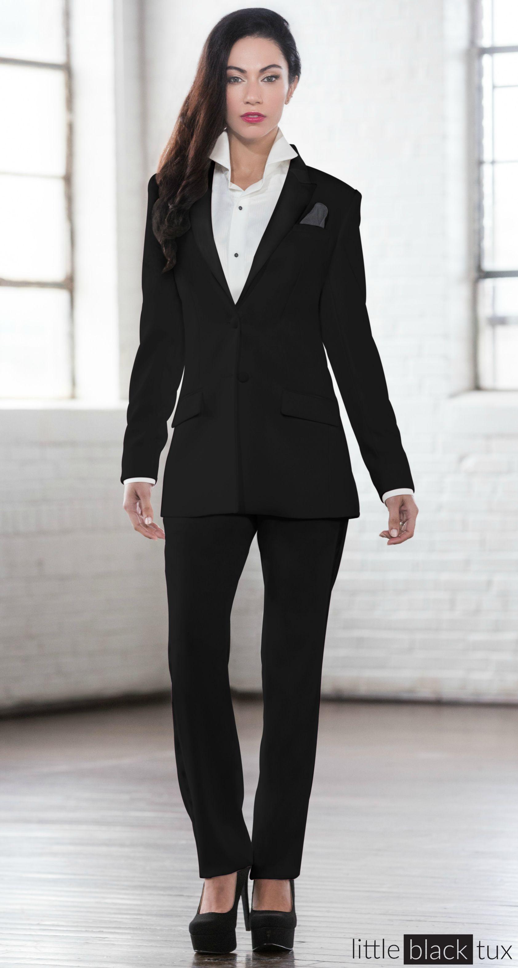 Women S Black Tuxedo Ladytux Peak Lapel Slim Fit Belt Loops Satin Lapel Female Tuxedo Suit Tux Long J Tuxedo Women Lounge Wear Tuxedo Suit For Wedding [ 3146 x 1684 Pixel ]