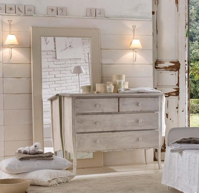 Chambre coucher de style shabby chic en 55 id es style - Commode chambre a coucher ...