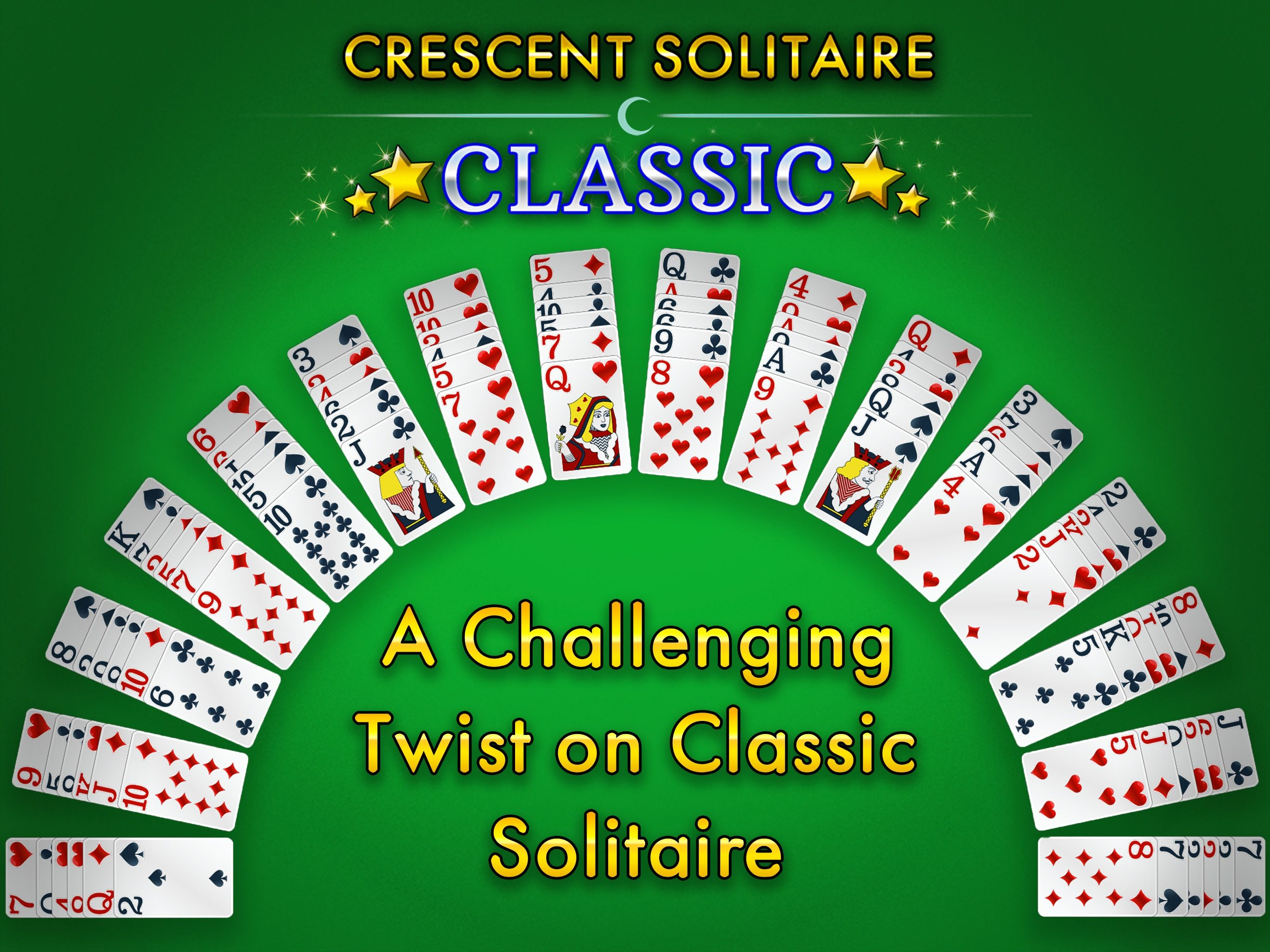 Play Crescent Solitaire Classic from Glowing Eye Games