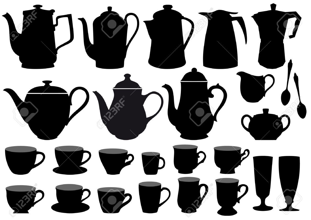 Tea pot and tea cup print outs Coffee pot, Printed cups