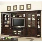 Parker House - Stanford Library 6 Piece Large Entertainment Wall Unit in Light Vintage Cherry - STA-405-412-450(2)-430-440-499