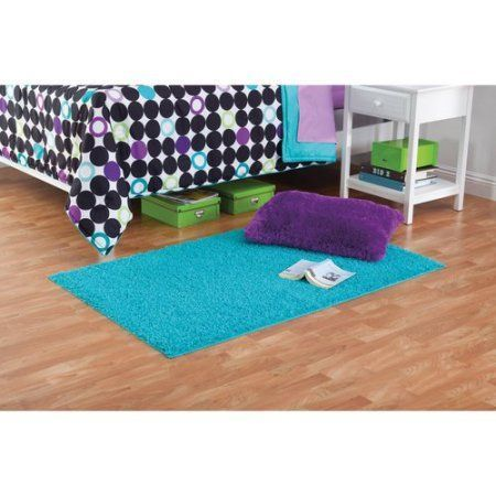 Your Zone Solid Shag Rug Available In Multiple Sizes And Colors, Blue