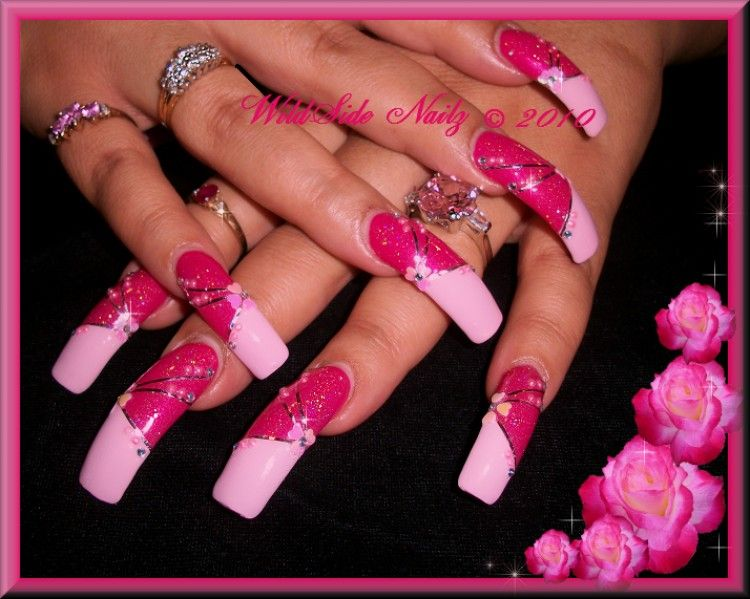 Pretty Curve Nails | Divalicious Nails | Pinterest | Curved nails ...