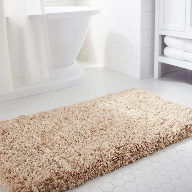 cloud step memory foam linen 24x60 bath rug | bath rugs, memory