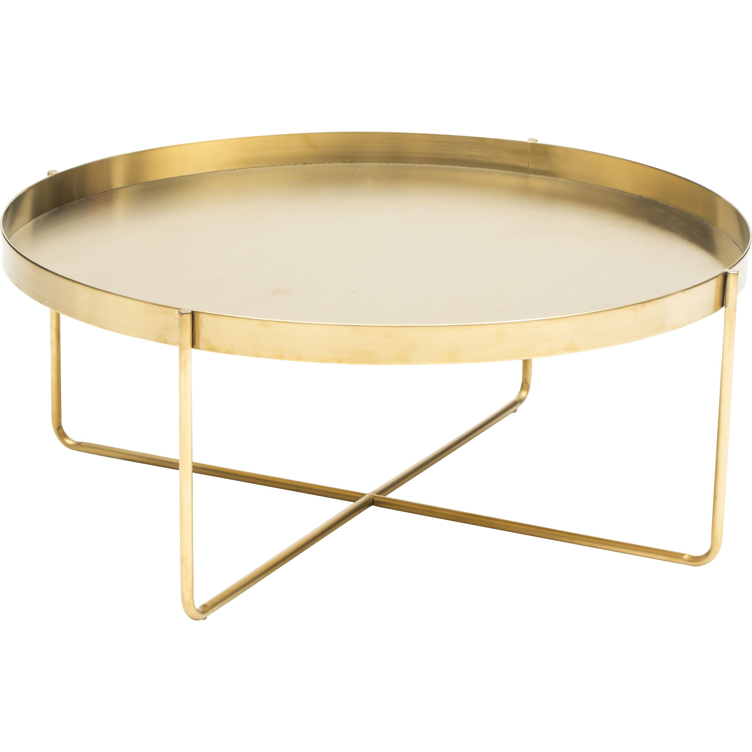 Brass Display Coffee Table: Gaultier Oval Coffee Table, Gold