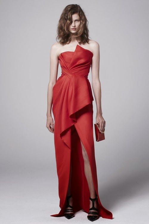 Beautiful J Mendel red evening gown | clothes | Pinterest | Red ...