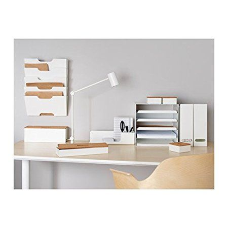 pretty nice 75b84 1c355 IKEA KVISSLE - Letter tray, white: Amazon.co.uk: Kitchen ...