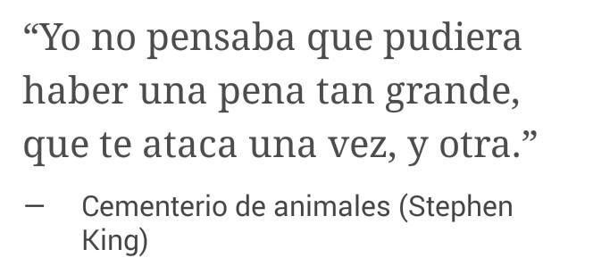 Stephen King Cementerio De Animales Frases En Español