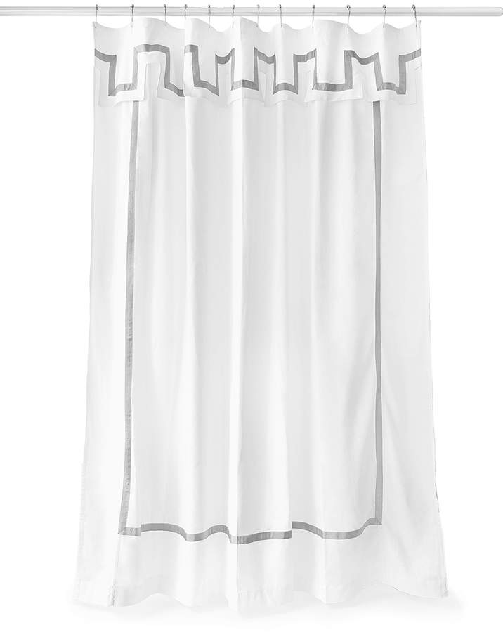Jonathan Adler White Santorini Shower Curtain Curtains Shower