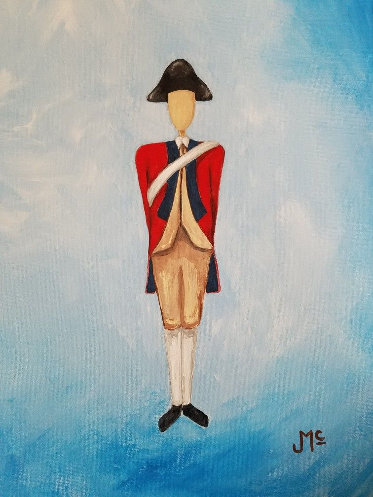 Colonial soldier british colonial williamsburg acrylic