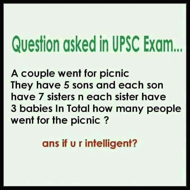 How many people went for the picnic?