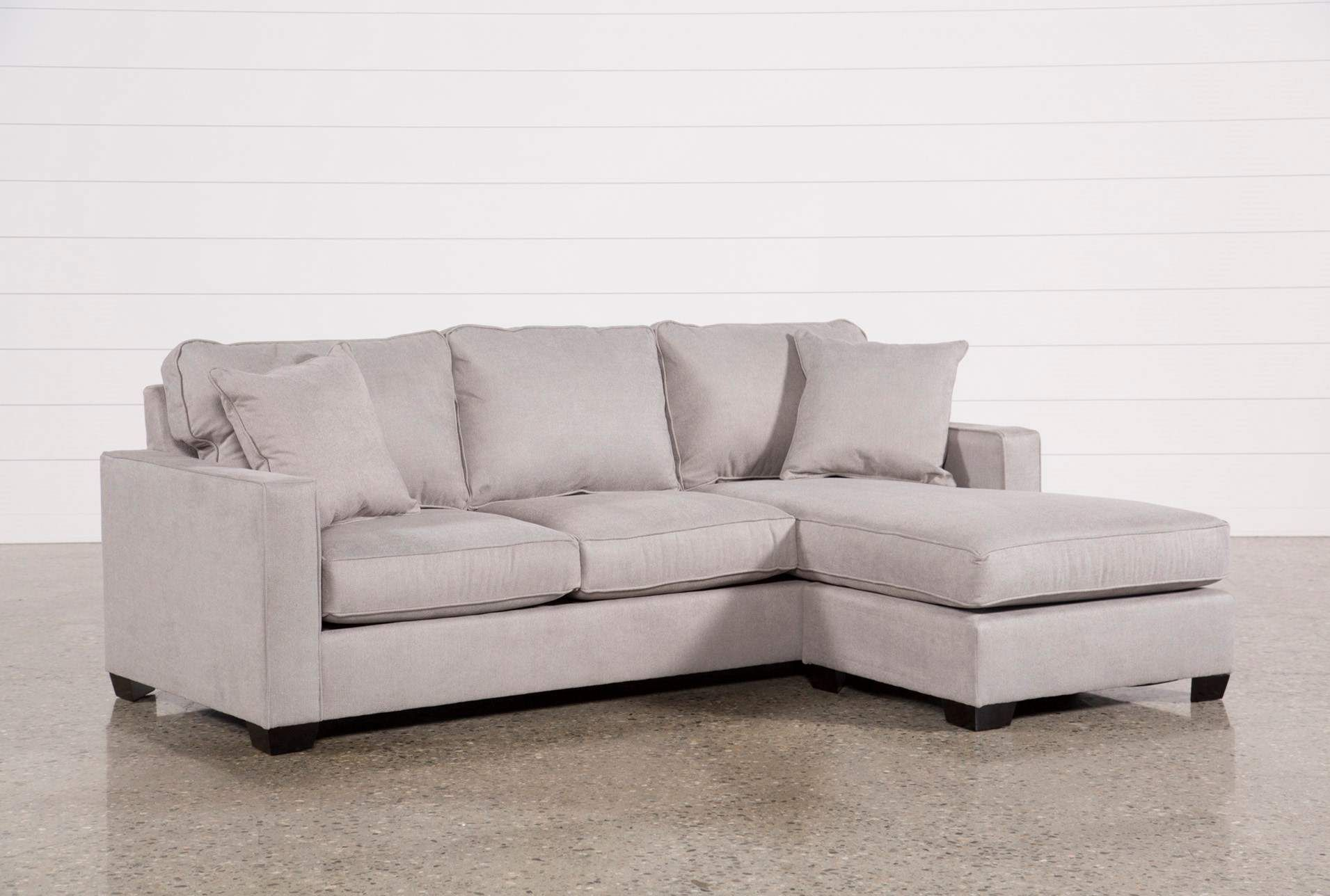 Egan Ii Cement Sofa With Reversible Chaise Sectional Sofa With
