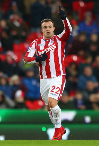 Xherdan Shaqiri Photos Photos Stoke City V Swansea City Premier League Premier League Stoke City Premier League Matches