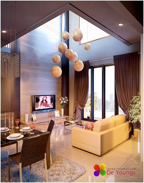 Cute Decoration For Double Height Living Room With A Modern Dining DINING ROOM JAKARTA By Via And Dini