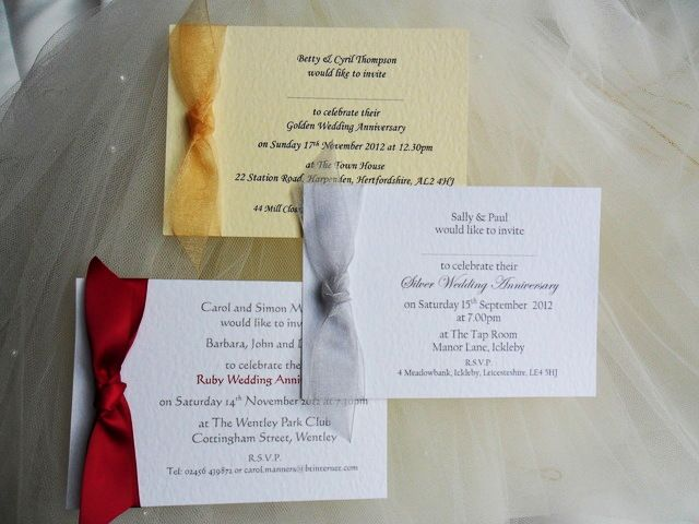 50th Wedding Anniversary Invitation Ideas: 25th, 40th And 50th Wedding Anniversary Invitations
