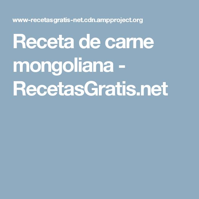 Receta de carne mongoliana - RecetasGratis.net