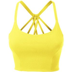 e8edccf675 LE3NO Womens Fitted Halter Cut Out Back Bralette Crop Top