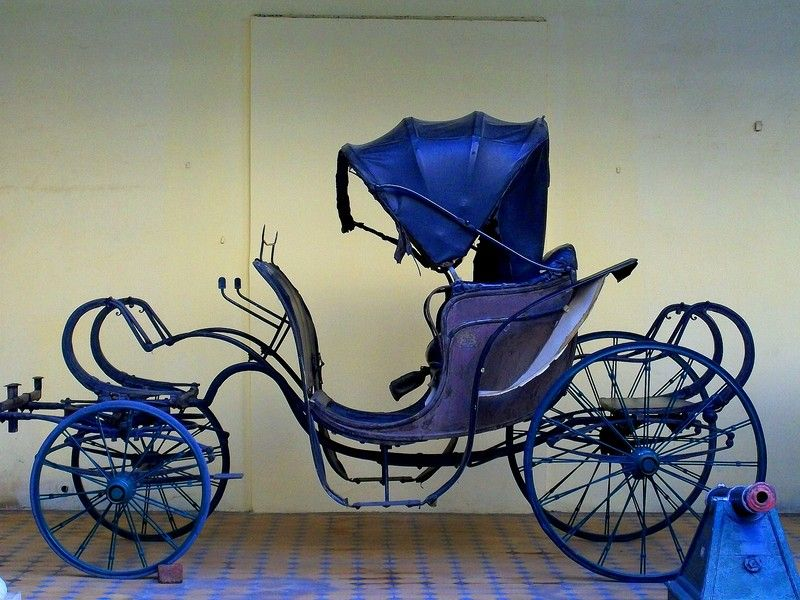Royal carriage of the Scindia Maratha royals at the Gwalior Palace Museum.