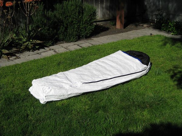 7oz DIY Tyvek bivy sack. Make it for $45 & MYOG Guyline Tensioners | Camping Backpacks and Survival