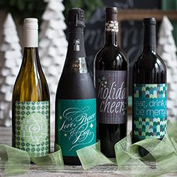 Decorate A Bottle Holiday Wine Labels To Download And Print To Decorate Bottles For