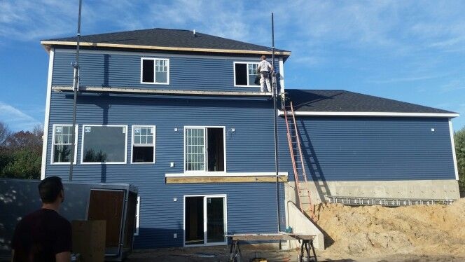 Siding Newport Bay Blue Newport Bay Blue Siding New Homes