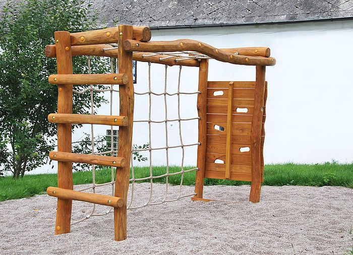 Klettergerüst Robinie : Klettergerüst fußballtor aus robinie ziegler spielplätze