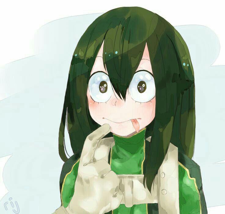 Asui Tsuyu Blushing Cute My Hero Academia My Hero