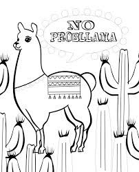 Image Result For Llama Coloring Page Clip Art Freebies Coloring Pages Coloring Books