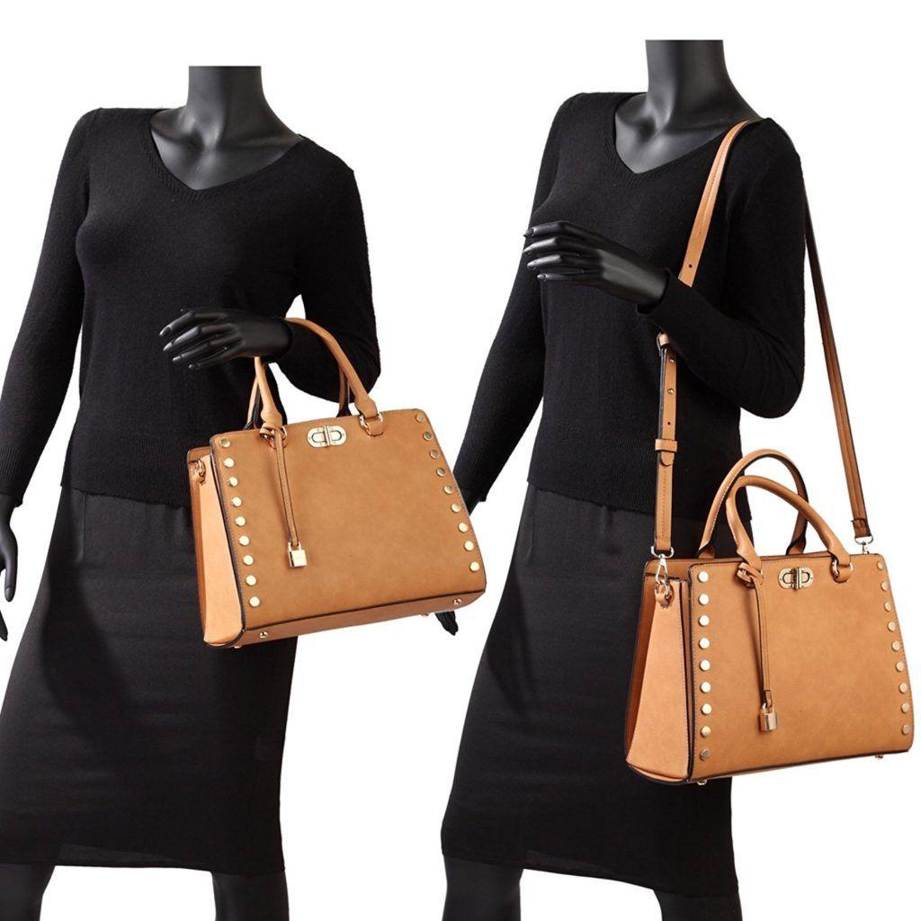 7b88b85771 MMK collection Women Fashion Pad-lock Satchel handbags with  wallet(2553)~Designer Purse for Women ~Multi Pocket ~ Beautiful Designer Handbag  Set