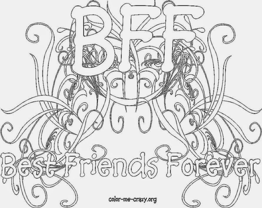 Printable Coloring Pages For Adults With Quotes : Bff coloring pages to download and print for free kolor me