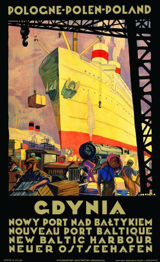 Gdynia Polonia 1 Polski Plakat Plakaty Podróżnicze