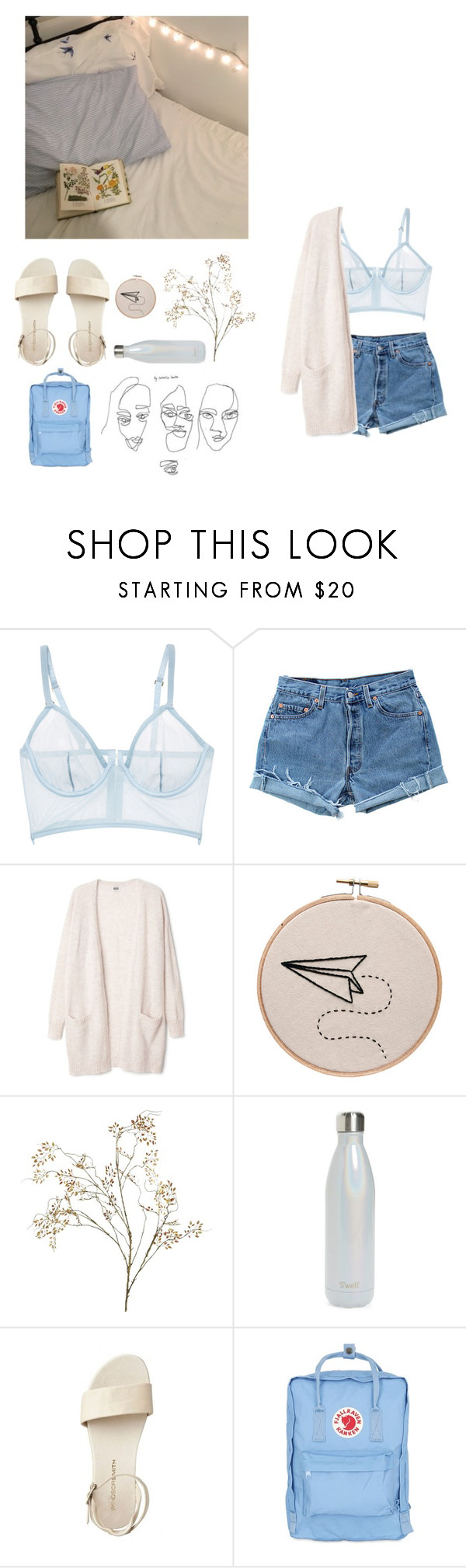 """""""a million faces"""" by rejectedminds ❤ liked on Polyvore featuring GET LOST, La Perla, Levi's, Pier 1 Imports, S'well and Fjällräven"""