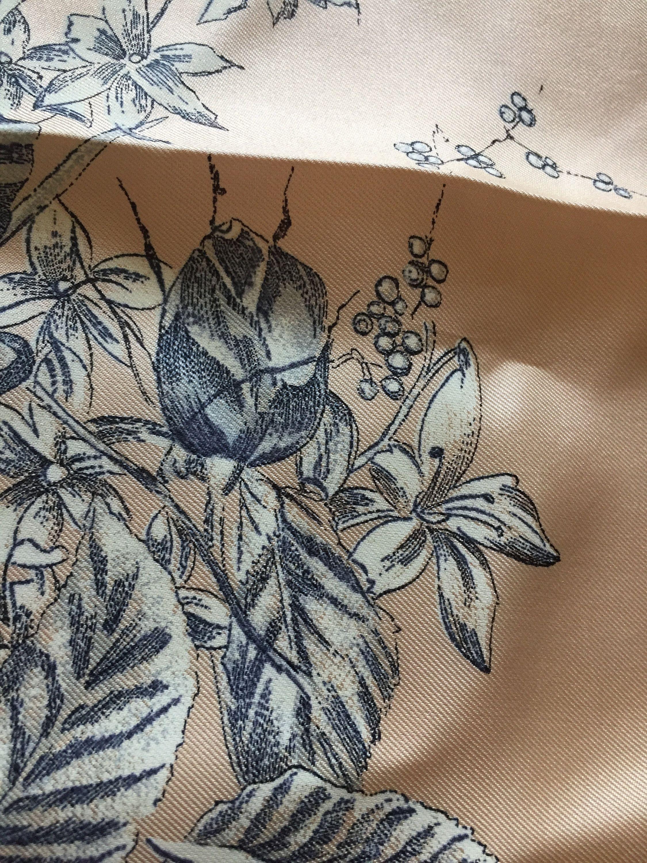 2759c501b5e Silk vintage shawl scarf Cappuccino colour plus black and white ...