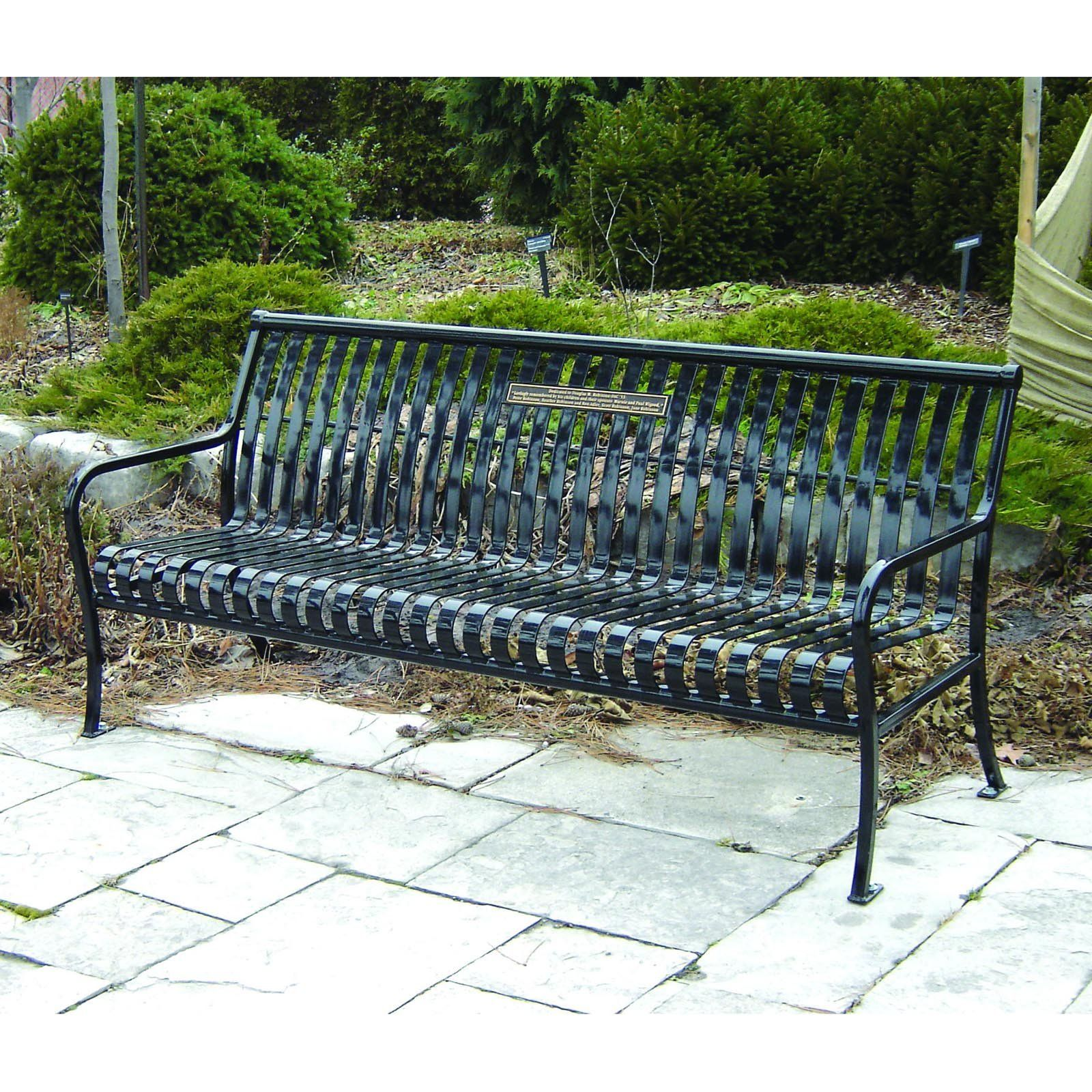 Have People Donate Park Benches With Commemorative Plaque