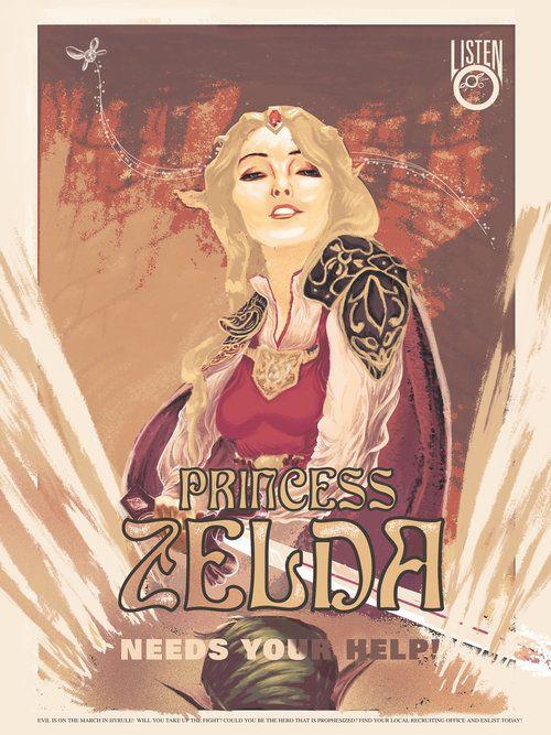 Princess Zelda Needs You - Zelda Propaganda