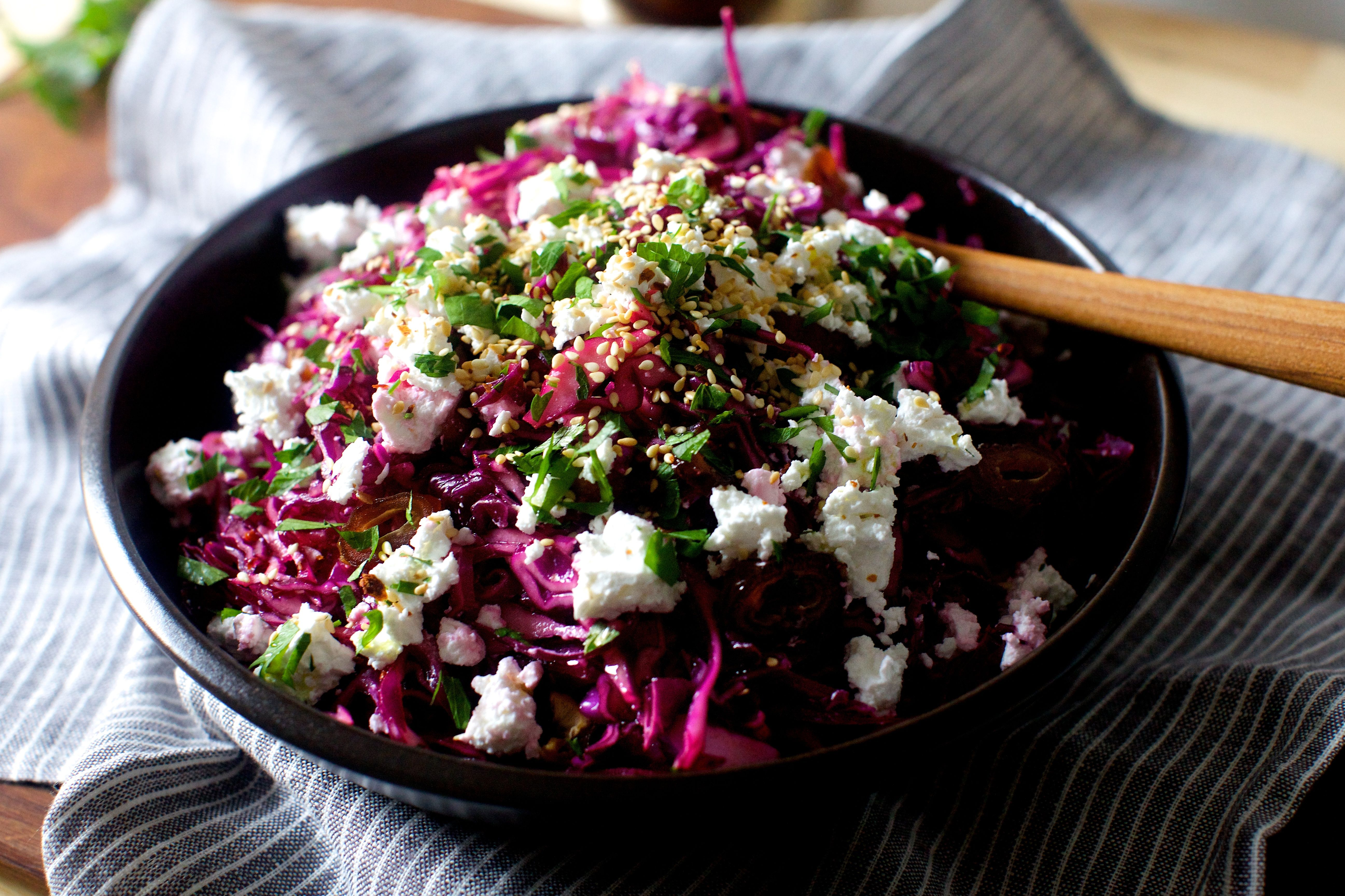 date, feta and red cabbage salad (smitten kitchen) | Ensaladas ...