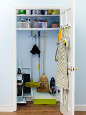If You Re Lucky Enough To Have A Dedicated Broom Closet Make Sure