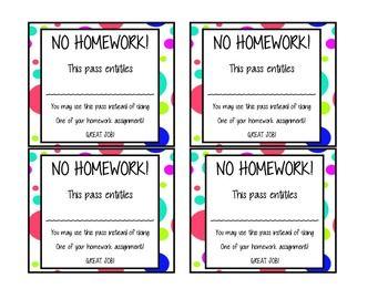 No homework pass pdf