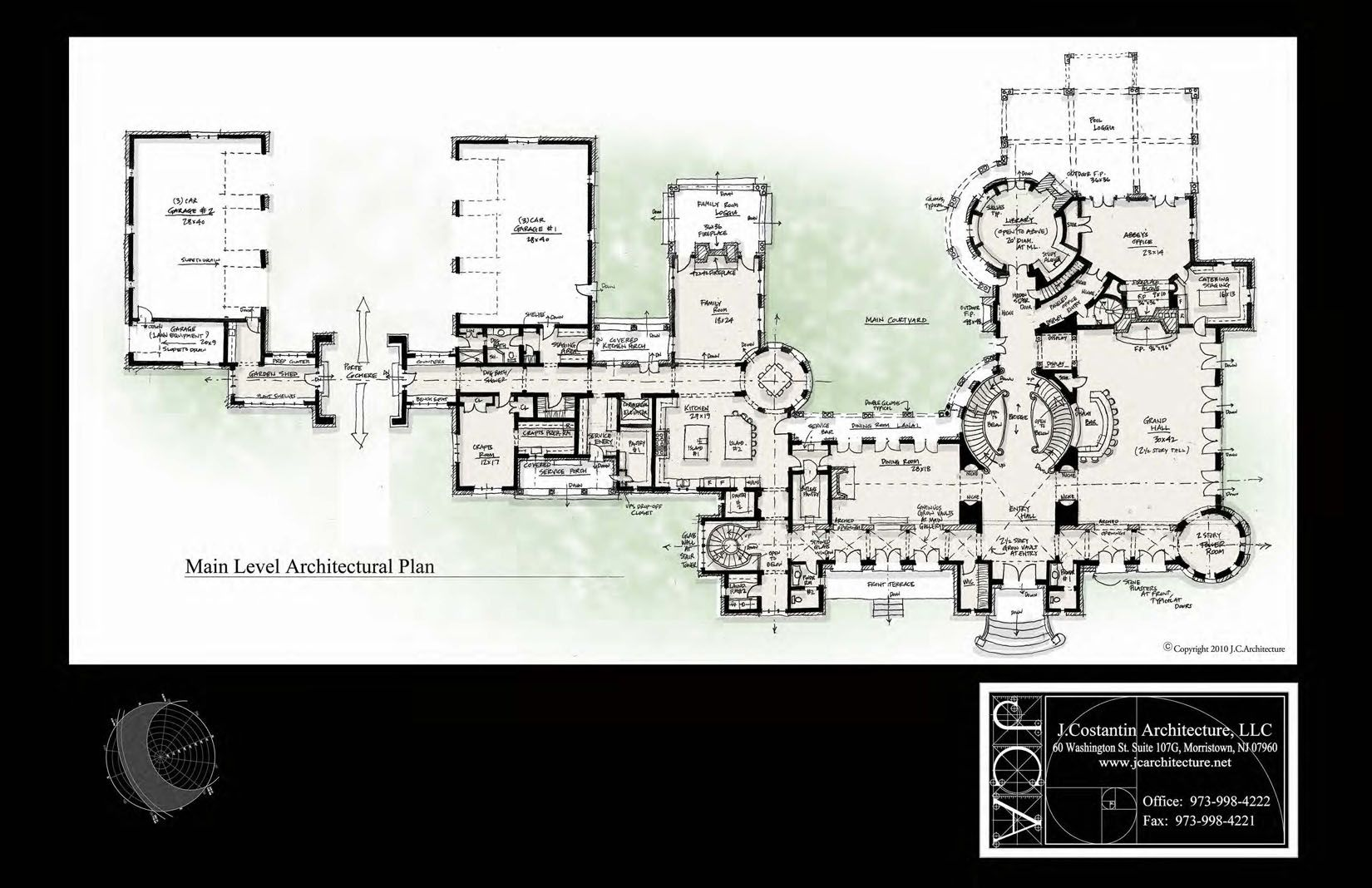 20 000 sq ft first floor J Costantin Architecture Colts Neck