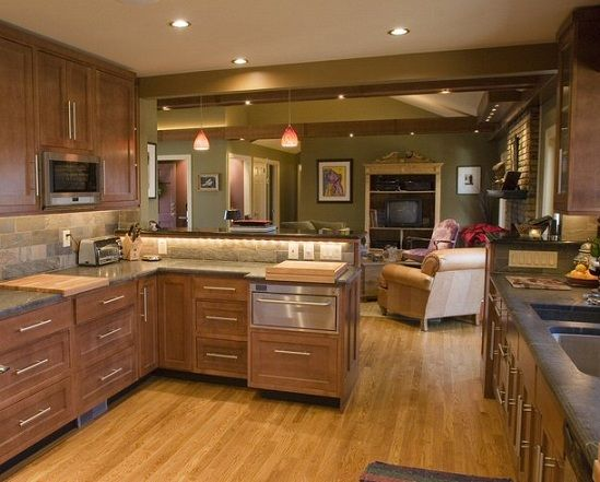 Kitchen Peninsula, Open Kitchen, Peninsula Benefits, Peninsula Storage |  Design Your Interiors, Home Interiors