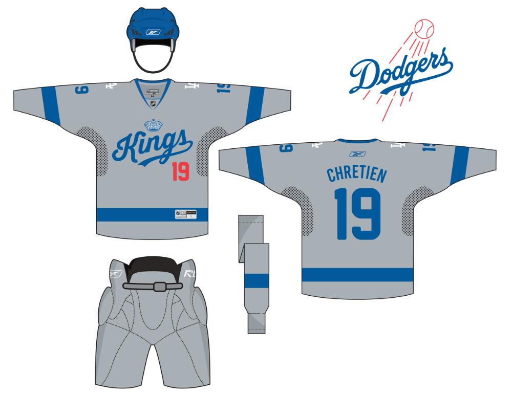 La Kings La Dodgers Home Jersey Nhl Jerseys Jersey La Dodgers
