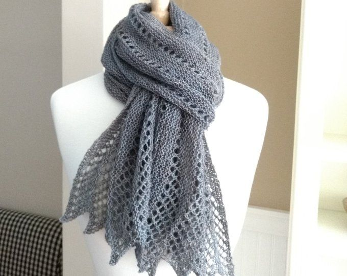 Lace Scarf Knitting Pattern PDF Mistral Scarf French ...