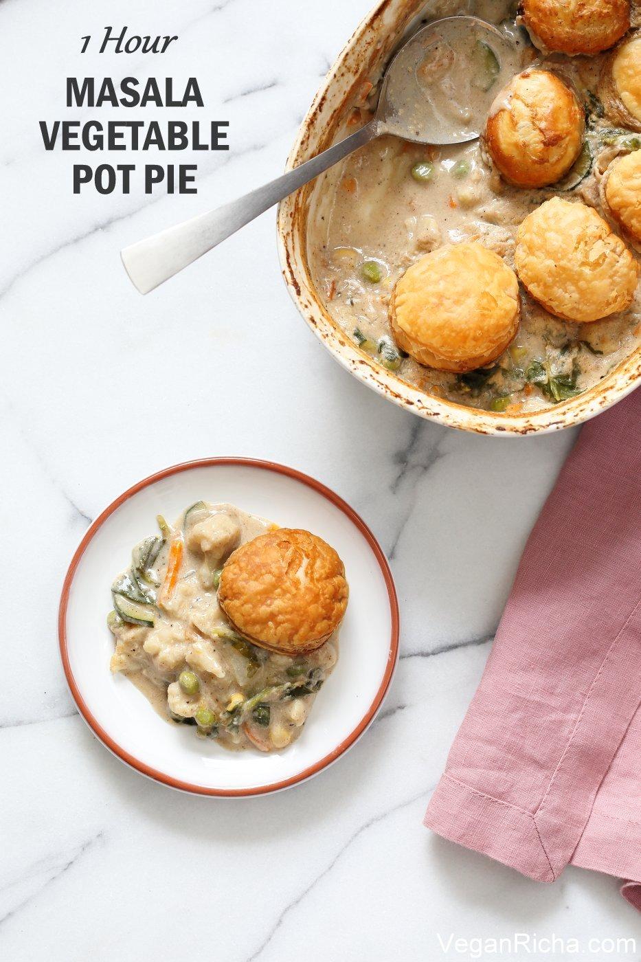 1 Hour Masala Vegetable Pot Pie Vegan Richa Recipe In 2020 Vegetable Pot Pies Recipes Vegetarian Pot Pie