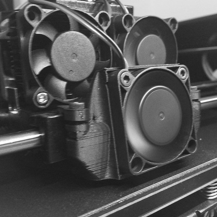 Something we liked from Instagram! Behind the scenes: We just got a new cooling fan installed on designer @craigdstover's PowerSpec Pro dual extrusion #3dprinter! #parallelgoods #design #3dprinting by parallelgoods check us out: http://bit.ly/1KyLetq
