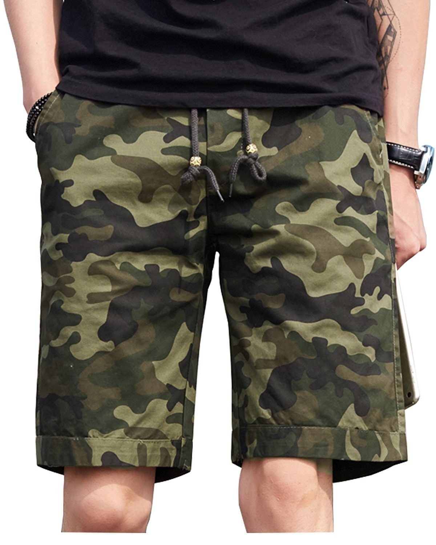 Summer Men/'s CasualCamo Cargo Short Camouflage Bermuad Work  Loose Baggy GIFT
