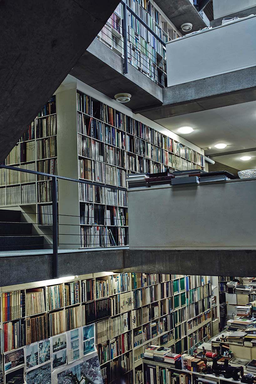 inside tadao andos selfbuilt studio in osaka  Libraries
