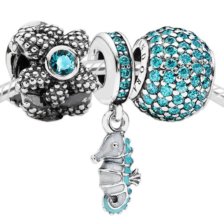 f89d35052 Pandora Swimming Seahorse Charm Set | www.goldcasters.com | GIVE ME ...