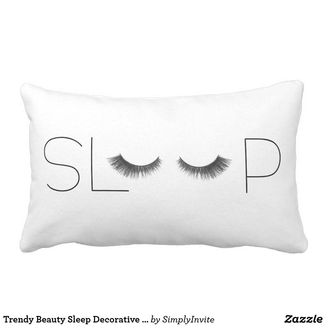 Miraculous Trendy Beauty Sleep Decorative Pillow Zazzle Com Pillows Forskolin Free Trial Chair Design Images Forskolin Free Trialorg