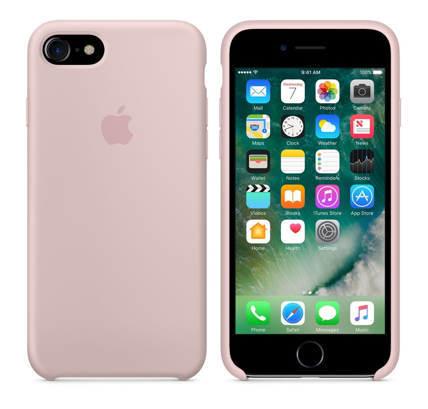 pink sand original apple silicone case for iphone 7 4 7\
