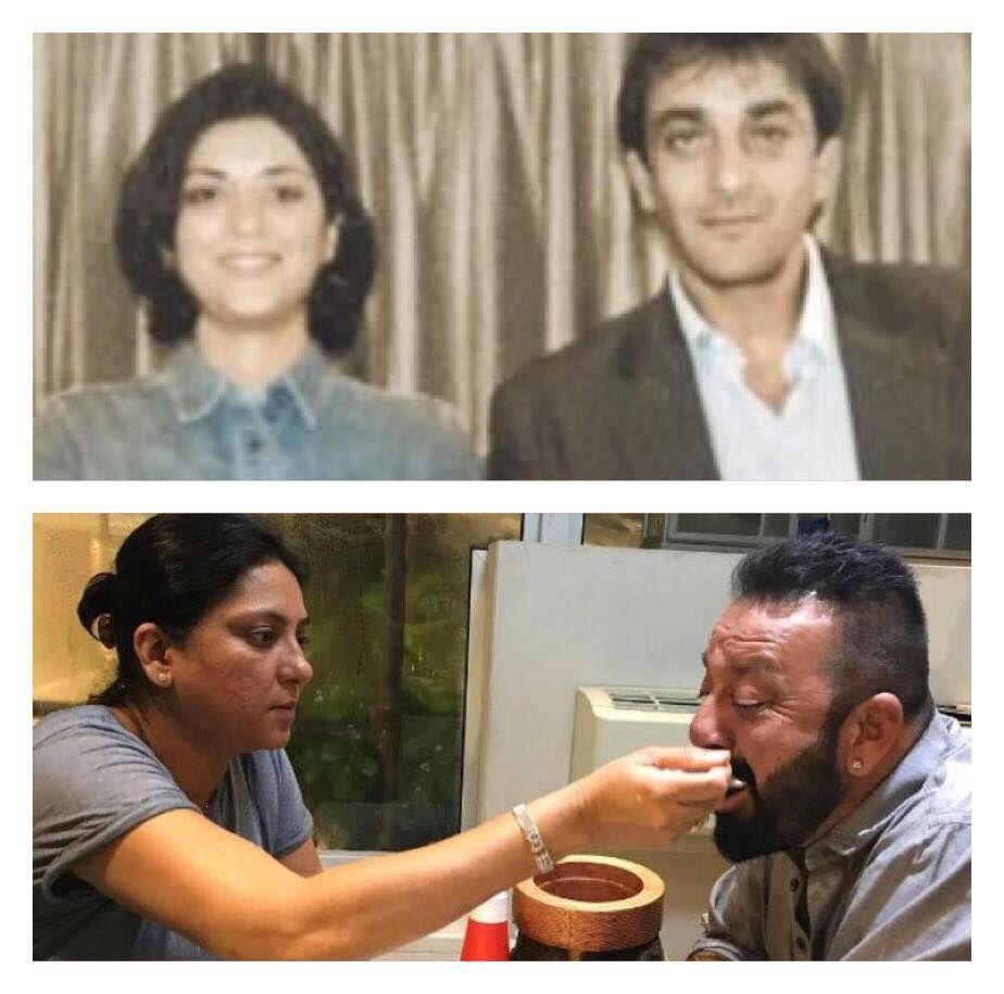 Sanjay Dutt with sister Priya Dutt. Like बॉलीवुड डायरेक्ट ...
